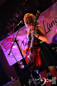 Bonnie Lang performing at her CD release party- Ear Traffic ATX- photo 1